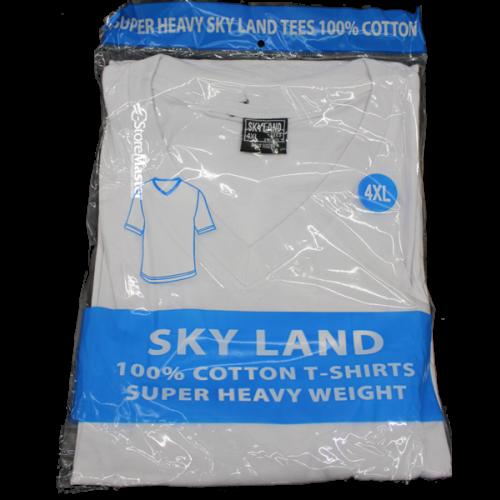 SKYLAND T-SHIRTS WHITE LARGE